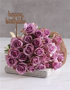 flowers: Happy Birthday Lilac Rose Blooms!