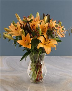 flowers: Hurricane Sunset Lilies!
