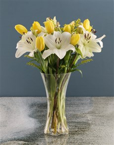 flowers: Tulip And Lily Mix In Vase!