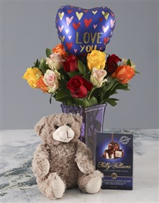 gifts: Mixed Roses Love You Lots Combo!