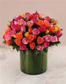 flowers: Garden of Mixed Roses!