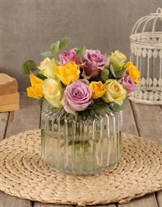 flowers: Dainty Mixed Rose Arrangement!
