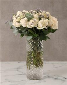 flowers: Cream Roses in Decorative Vase!