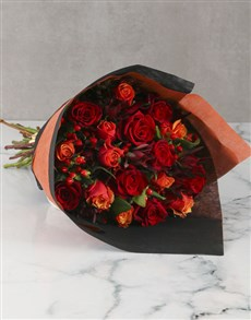 flowers: Charming Cherry Brandy Rose Bouquet!