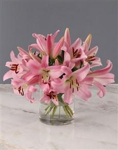 flowers: Stargazer Lilies in Cylinder Vase!