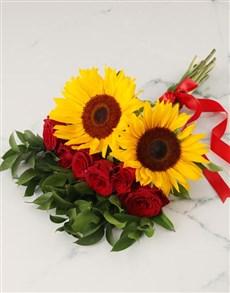 flowers: Charming Mixed Sunflower Bouquet!