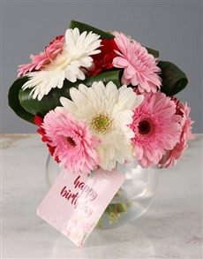 flowers: Mixed Gerbera Birthday Bouquet!