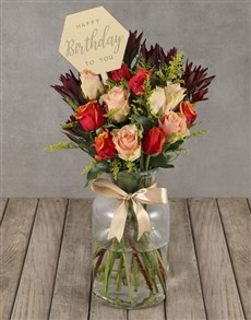 flowers: Rustic Cherry Brandy Roses!