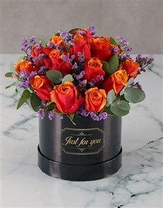flowers: Graceful Cherry Brandy Roses in a Box!