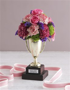 flowers: Worlds Best Grandma Trophy Arrangement!