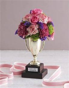 flowers: Worlds Best Grandma Trophy Arrangement!