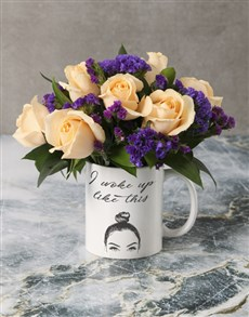 flowers: Woke Up Like This Roses in a Mug!
