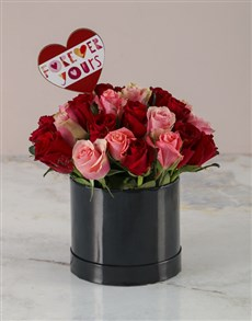 flowers: Forever Yours Mixed Roses Hatbox!