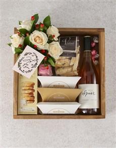 flowers: Just For You Cream Roses Gourmet Hamper!