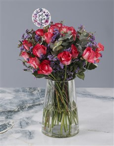 flowers: Carefree Cerise Roses!
