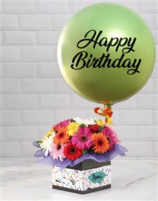 gifts: Personalised Green Birthday Balloon Combo!