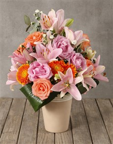 flowers: Blushing Beauty Mixed Arrangement!