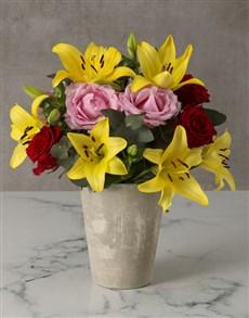 flowers: Abundance Of Colour Mixed Arrangement!
