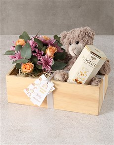 flowers: Sunshine Roses Crate!