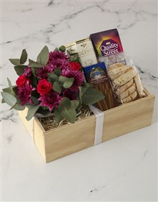 flowers: Peace With Cerise Roses Crate!