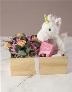 flowers: Be My Unicorn Rose Crate!
