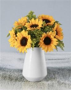 flowers: Simple Sophistication Sunflower Arrangement!