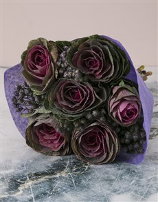 flowers: Intense Kale Bouquet!