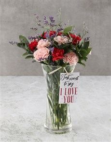 flowers: Pink And red Pleasures Carnation Arrangement!