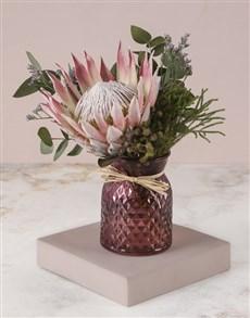 flowers: Elegant Protea Arrangement!
