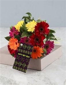 flowers: Fiery Skies Gebera Bouquet!