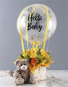 gifts: Hello Baby Orange Rose Arrangement!