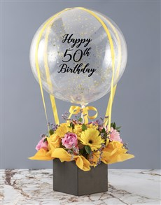 gifts: Personalised Celebration Time Balloon Arrangement!