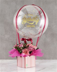 gifts: Personalised Birthday Blooms And Balloons!