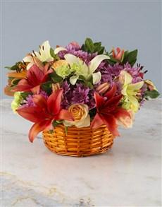 flowers: Pretty Pastel Petals Basket!