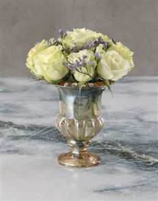 flowers: Opulent White Rose Bouquet!
