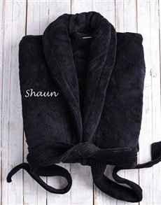 gifts: Personalised Black Fleece Gown!