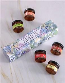 gifts: Personalised Flower Honey Jars Set!