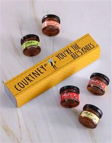 gifts: Personalised Bees Knees Honey Jars Set!