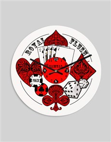 gifts: Personalised Royal Flush Clock!