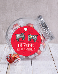 gifts: Personalised Player 2 Candy Jar!