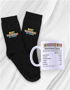 gifts: Personalised Best Teacher Socks And Mug!