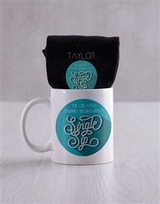 gifts: Personalised Greatest Journey Socks And Mug!