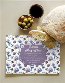 gifts: Personalised Grandmas House Chopping Board!
