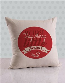 gifts: Personalised First Christmas Scatter Cushion!