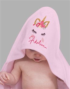 gifts: Personalised Unicorn Hooded Towel!
