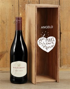 gifts: Personalised Heart Boom Backsberg Red Crate!
