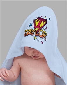 gifts: Personalised Superhero Hooded Towel!