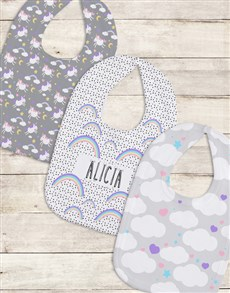 gifts: Personalised Set of Rainbow Bibs!