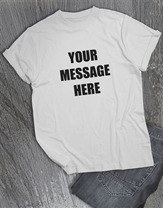 gifts: Personalised Message On A White T Shirt!