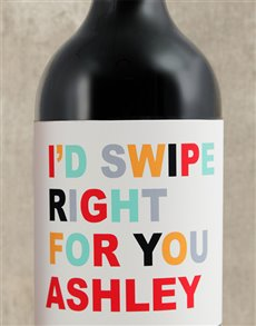 gifts: Personalised Swipe Right Wine!